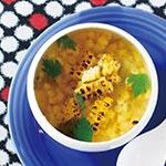 有機ホットソース de 丸ごと トウモロコシのエスニックスープ