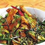 発酵食品で免疫バランス  テンペとぬか漬けのコチュだれ麺